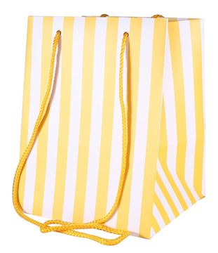 Picture of Yellow Candy Stripe Tall Gift Bag (10 pack)